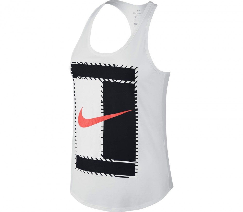 Nike - Court Dry women's tennis top (white/black)