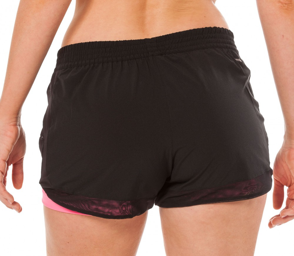 adidas 2 in 1 shorts. adidas - 2-in-1 woven women\u0027s training shorts (black/pink) 2 in 1