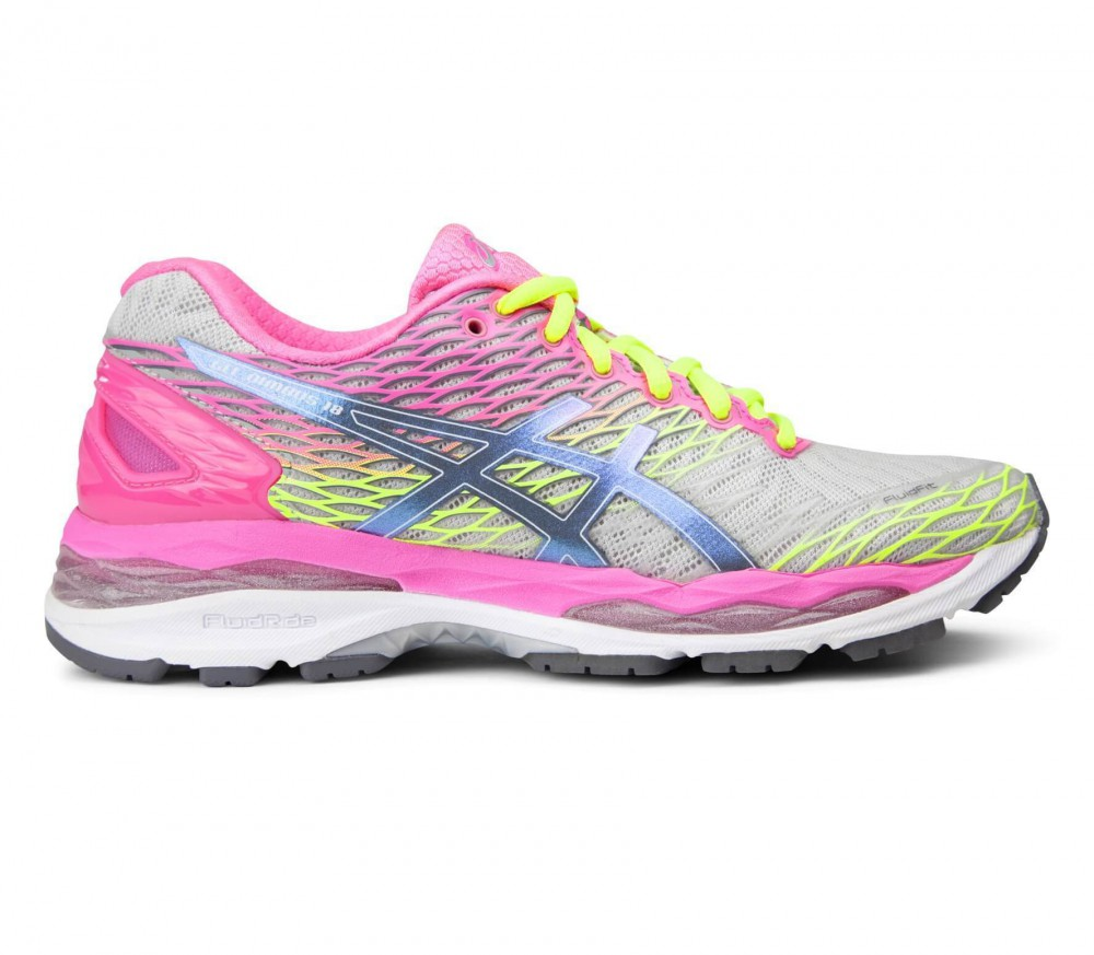 asics gel nimbus 18 women 39 s running shoes grey pink buy it at the keller sports online shop. Black Bedroom Furniture Sets. Home Design Ideas