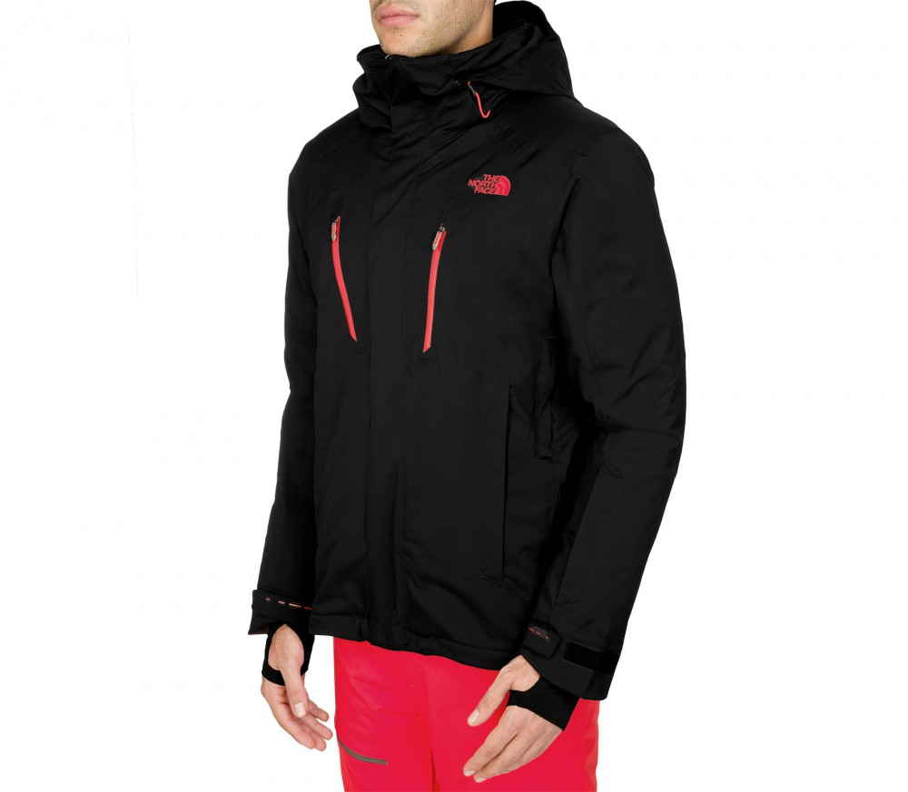 North face jacket black and red