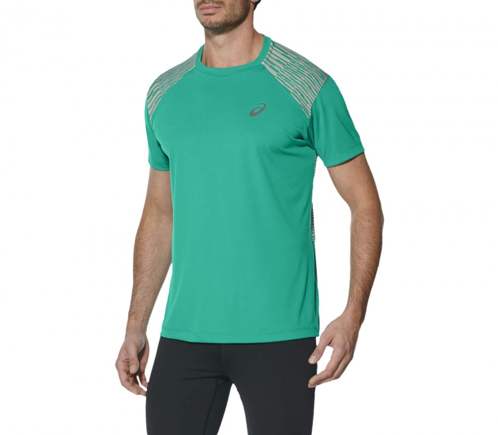 Asics - fuzeX men's running t-shirt (green)