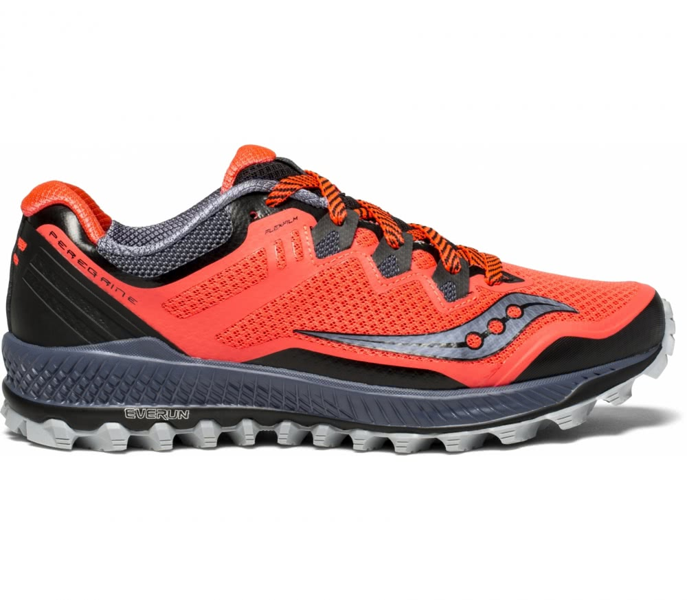 womens red saucony shoes
