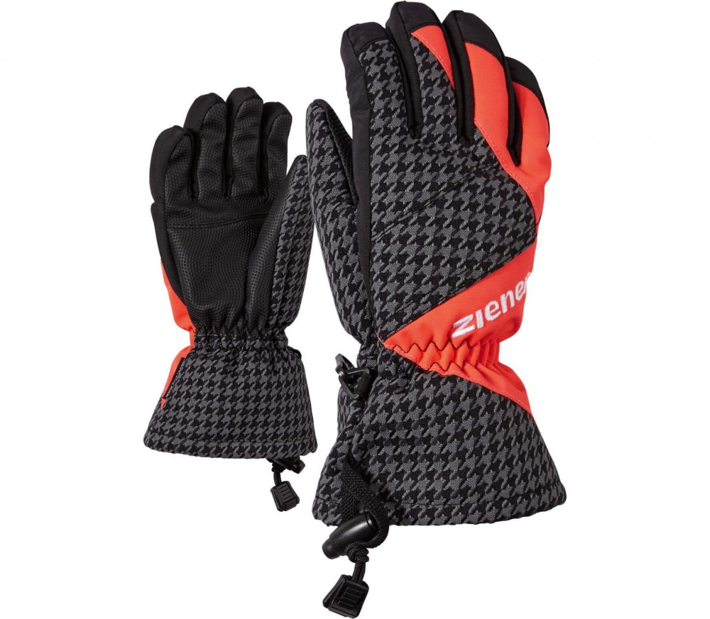 Ziener - Agil AS® Children ski gloves (grey/red)