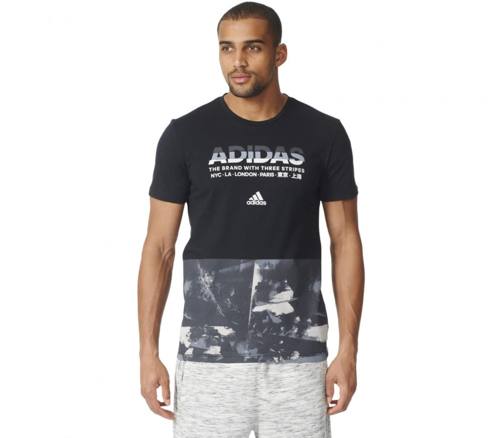 Adidas - Adi AOP men's training top (grey/black)