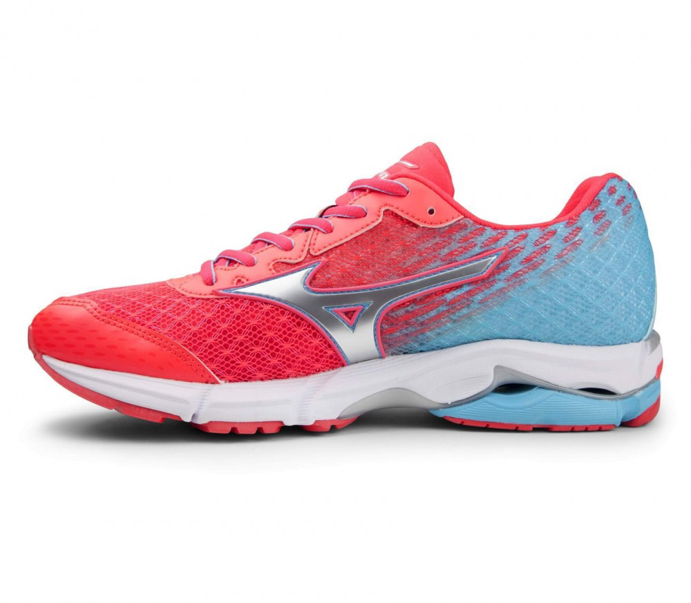 Mizuno - Wave Ride 19 women's running shoes (red/turquoise)