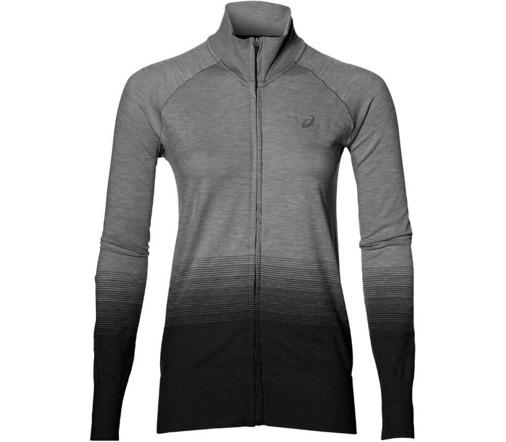 ASICS - fuzeX Seamless women's running jacket (black/grey)