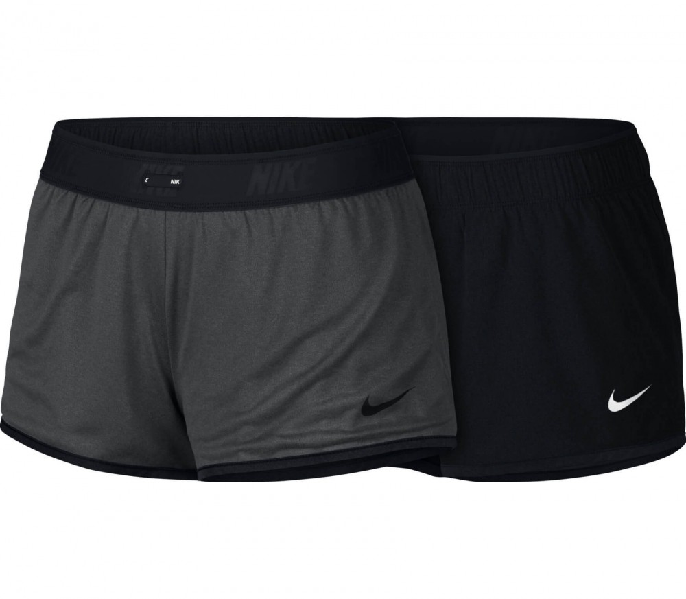 Nike Flex Gym Reversible women's training shorts (blackgrey)