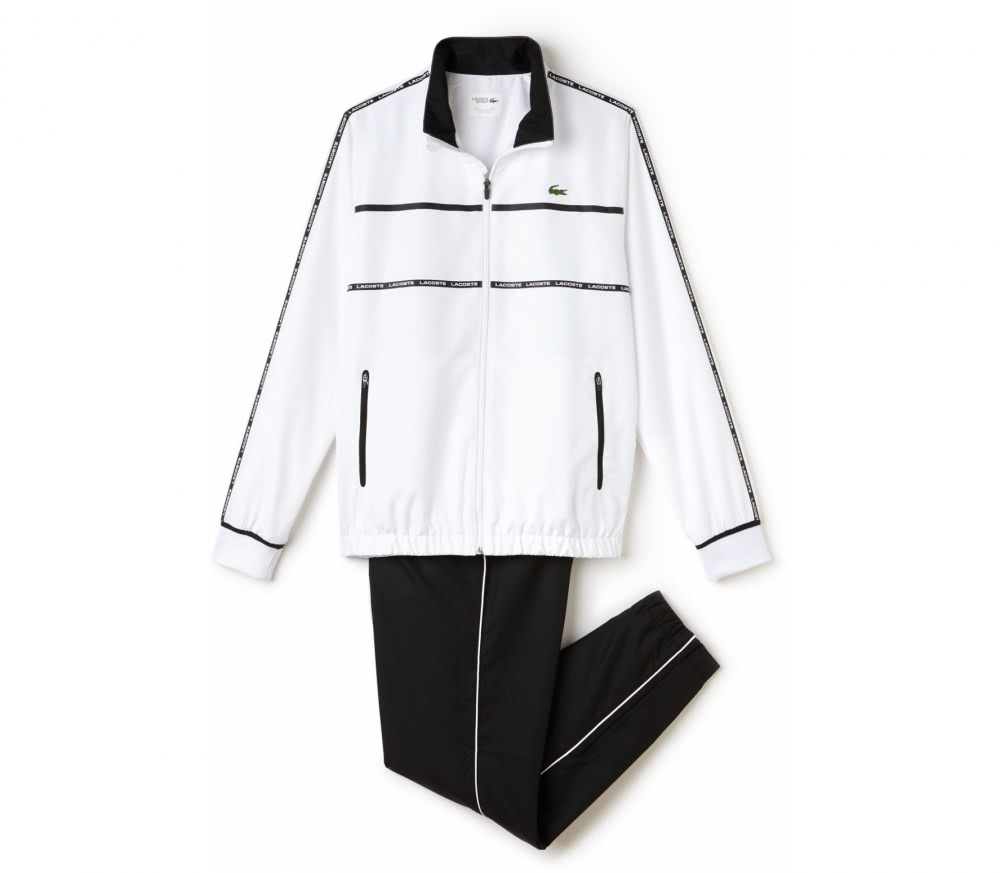 Lacoste - Tracksuit men's tennis tracksuit (white/black)