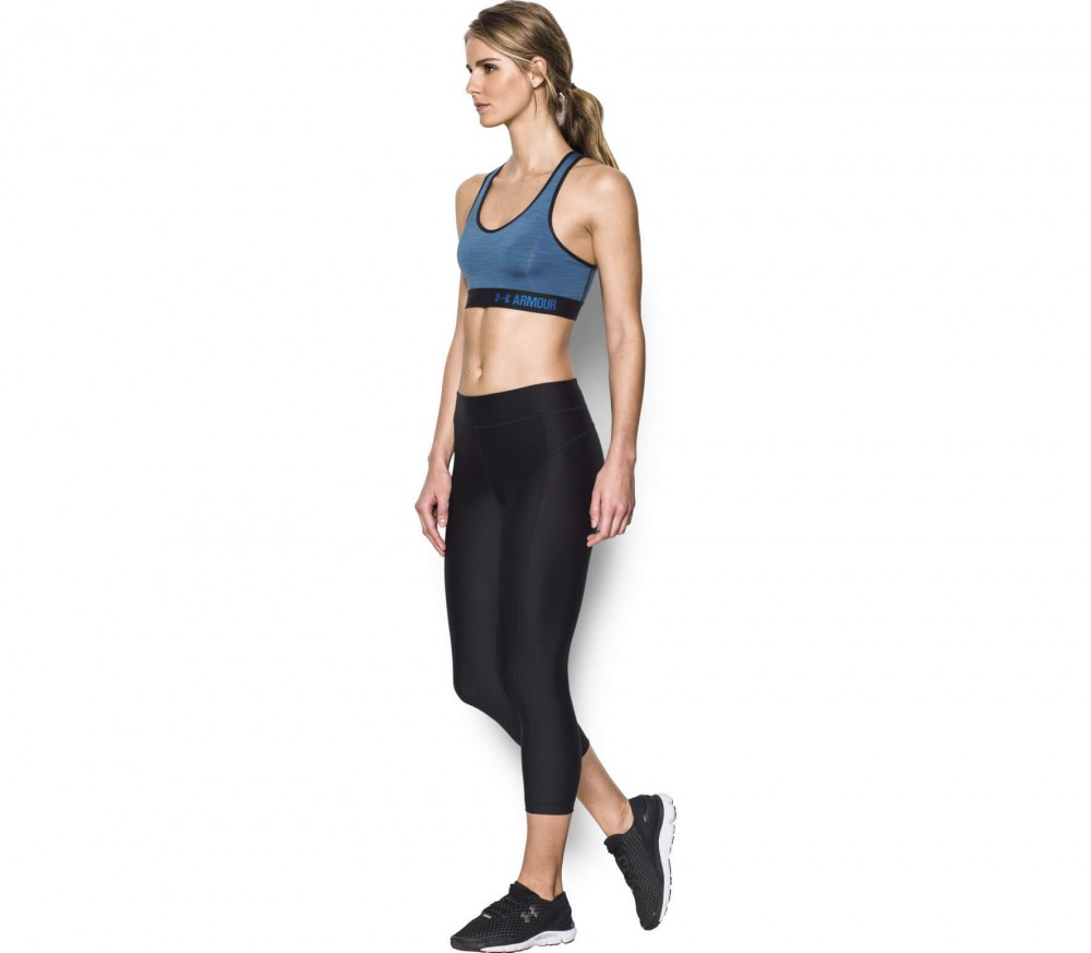 Under Armour - Armour Mid Space Dye women's training bra (blue/black)