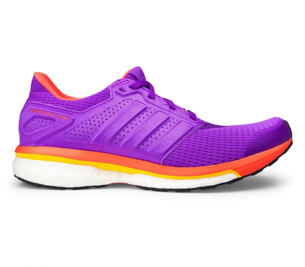 Adidas - Supernova Glide 8 women's running shoes (purple/orange)