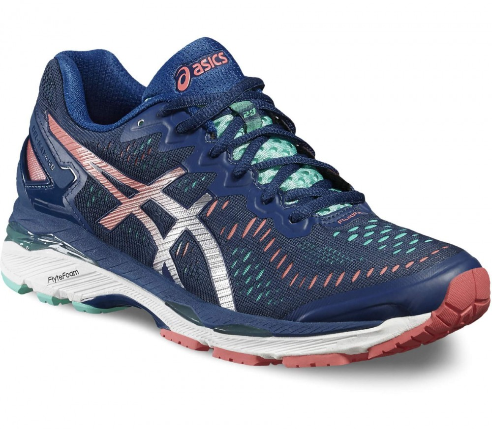 Asics - Gel-Kayano 23 women's running shoes (dark blue/light red)