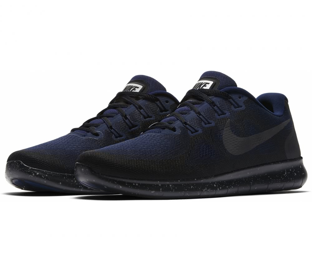 New Nike Free Run 2017 Shield Black / Blue Sports Shoes for Men Online