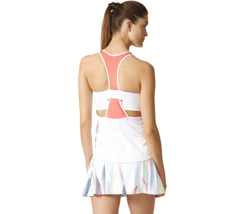 Adidas - Pro women's tennis tank top (white/red)