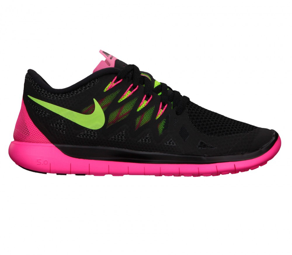 nike free 5 0 women 39 s running shoes black pink green. Black Bedroom Furniture Sets. Home Design Ideas