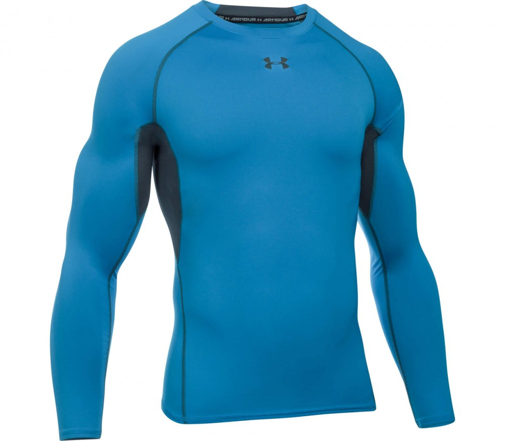 Under Armour - Heatgear Armour long-sleeved men's compression top (blue/grey)