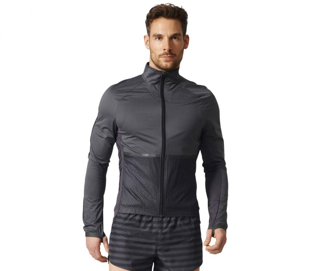 Adidas - Adizero Track men's running jacket (black/grey)