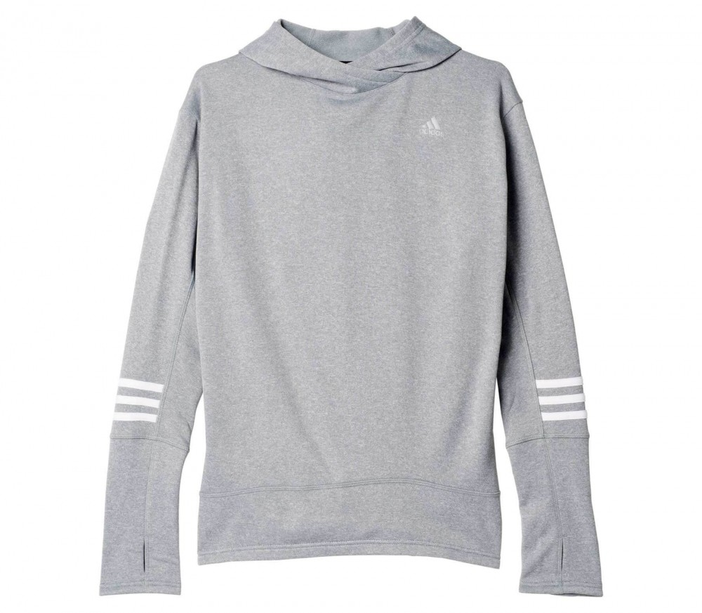 Adidas - Response Icon women's Laufhoody (grey)