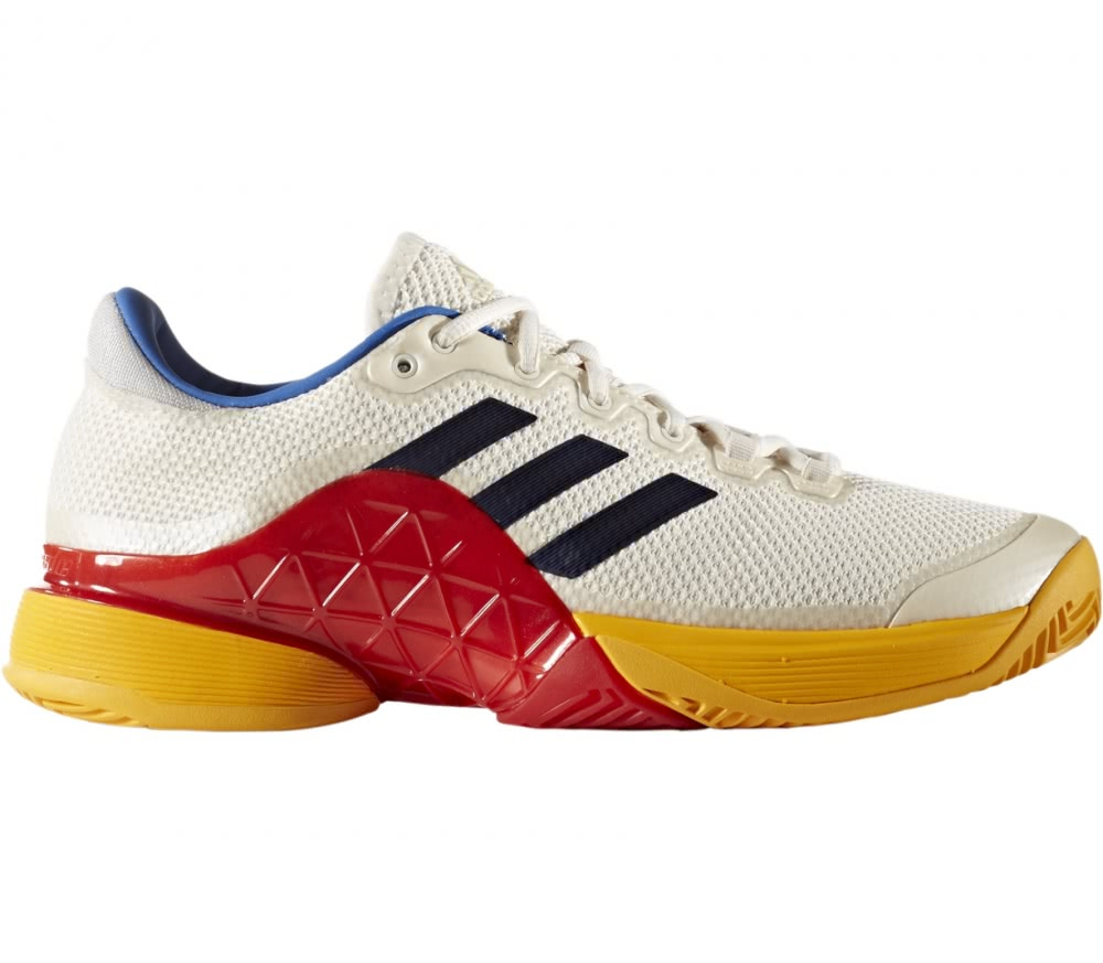 Adidas - Barricade 2017 Pharrell Williams men's tennis shoes (white/blue)