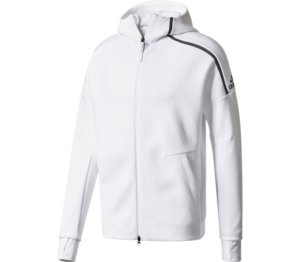 adidas zne men 39 s hoodie white buy it at the keller sports online shop. Black Bedroom Furniture Sets. Home Design Ideas