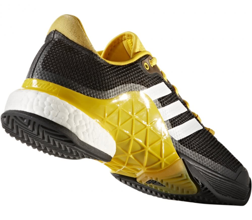 Adidas - Barricade 2017 Boost men's tennis shoes (black/yellow)