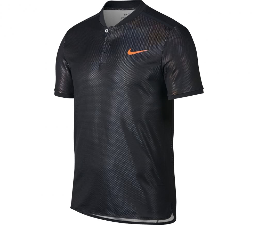 Nike - Court Dry Advantage Shortsleeve men\\\\\\\'s tennis polo top (black)