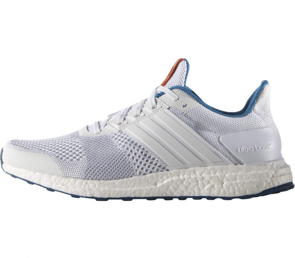 adidas ultra boost st men 39 s running shoes white blue. Black Bedroom Furniture Sets. Home Design Ideas