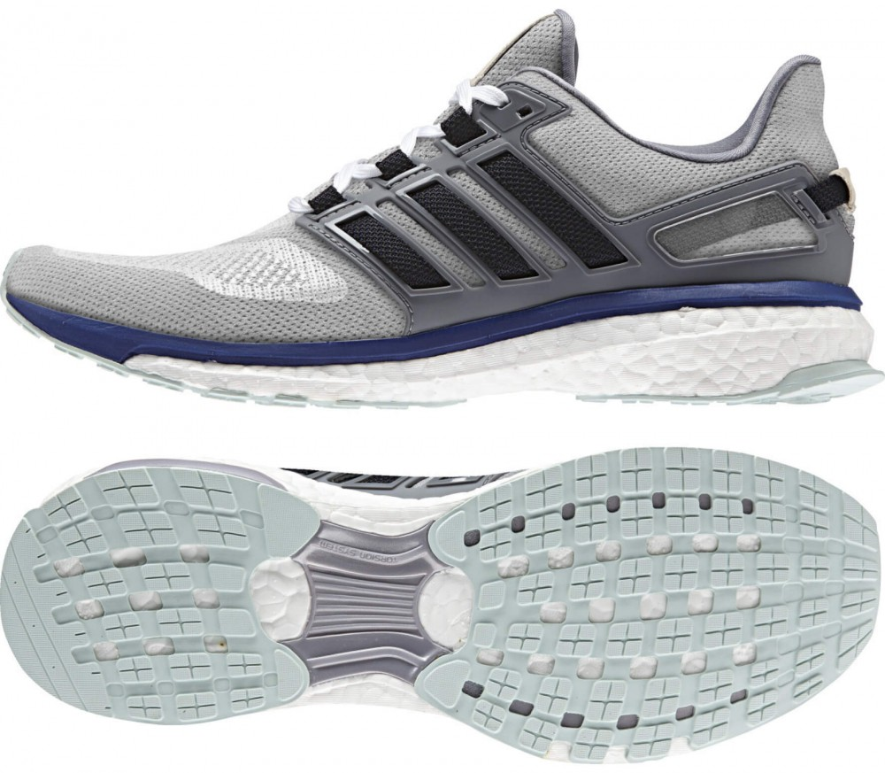 Adidas - Energy Boost men's running shoes (grey/black)