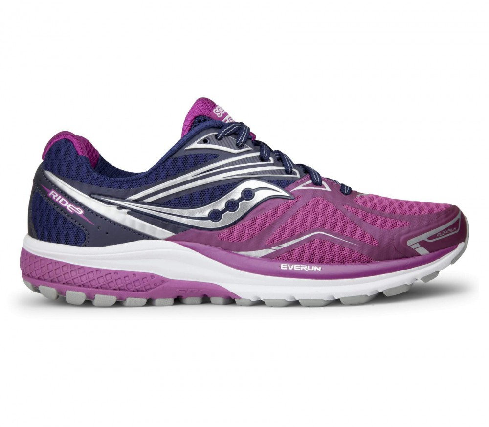 Saucony - Ride 9 women's running shoes (purple/pink)