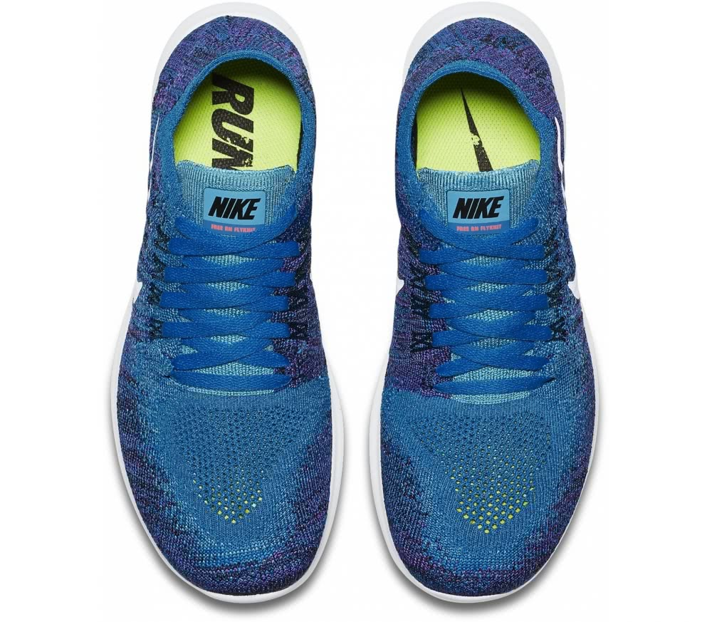 Nike - Free RN Flyknit 2 (GS) Children running shoes (blue)