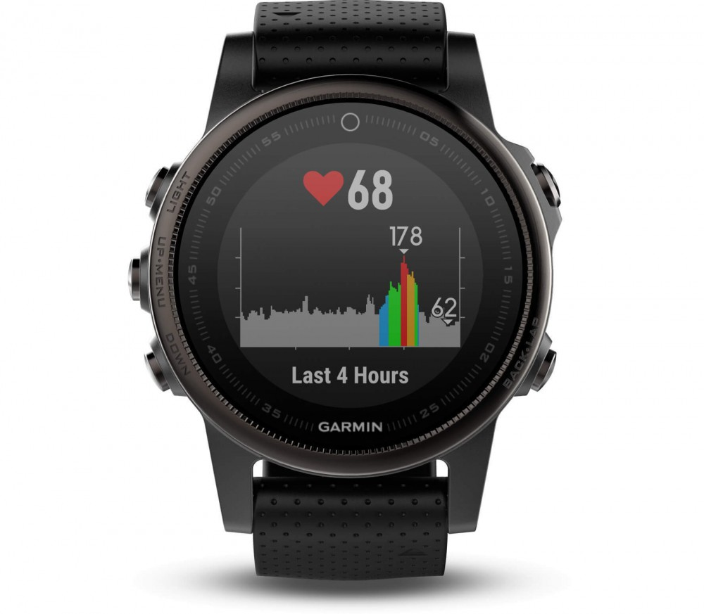 garmin f nix 5s saphire unisex outdoor watch black. Black Bedroom Furniture Sets. Home Design Ideas