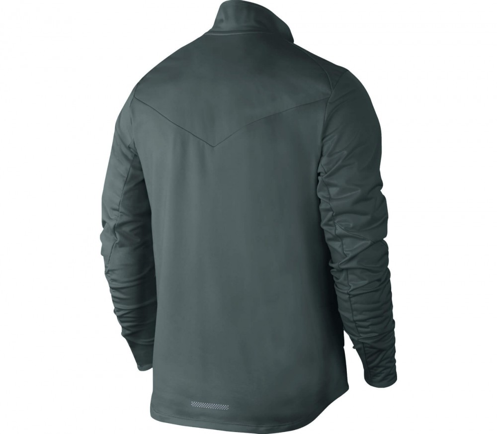 Nike - Shield Full-Zip men's running jacket (dark green)