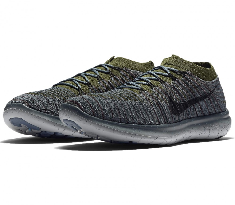 ... Nike - Free Run Motion Flyknit mens running shoes (blue) ...