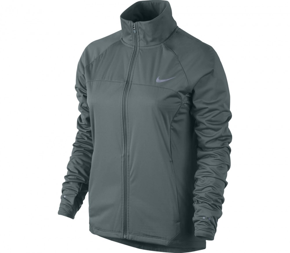 Nike - Shield Full-Zip women's running jacket (dark green)