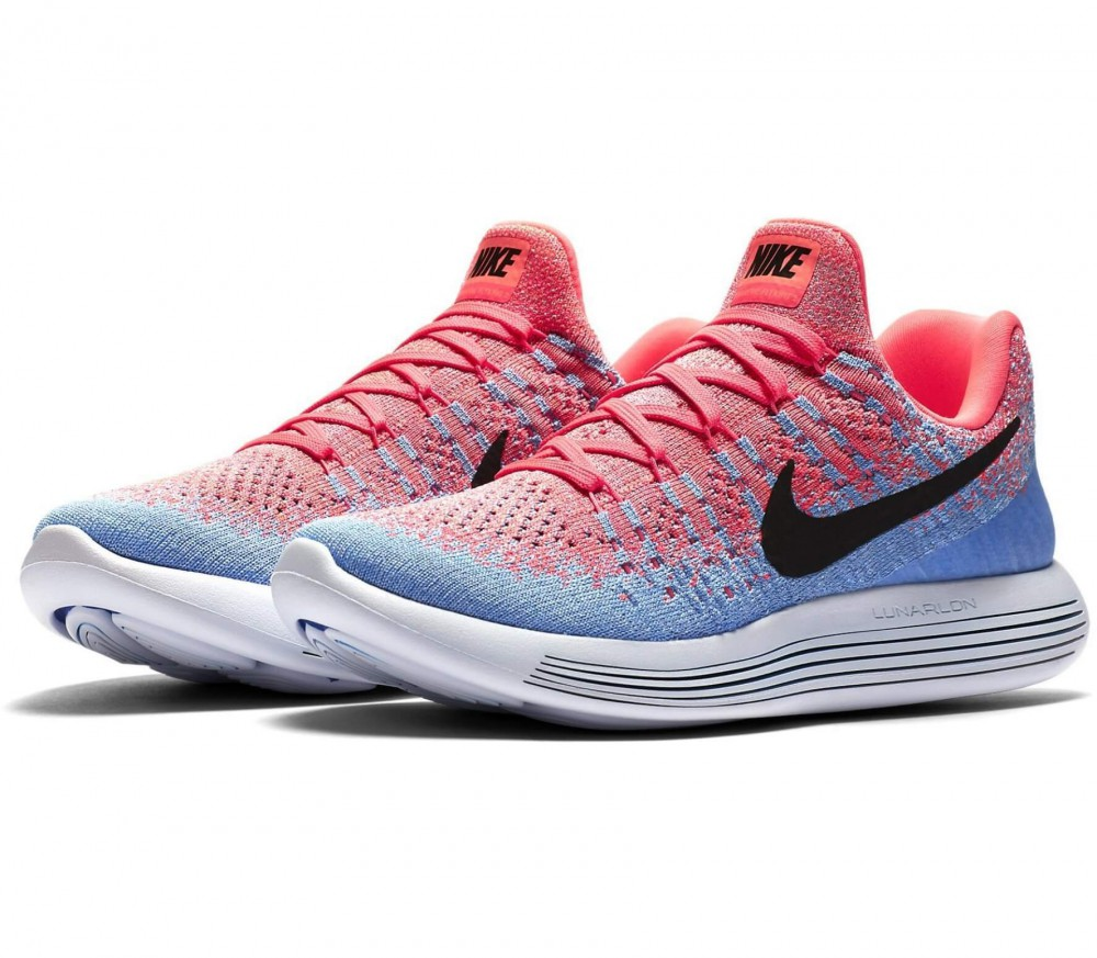nike lunar epic low flyknit 2 pink and blue