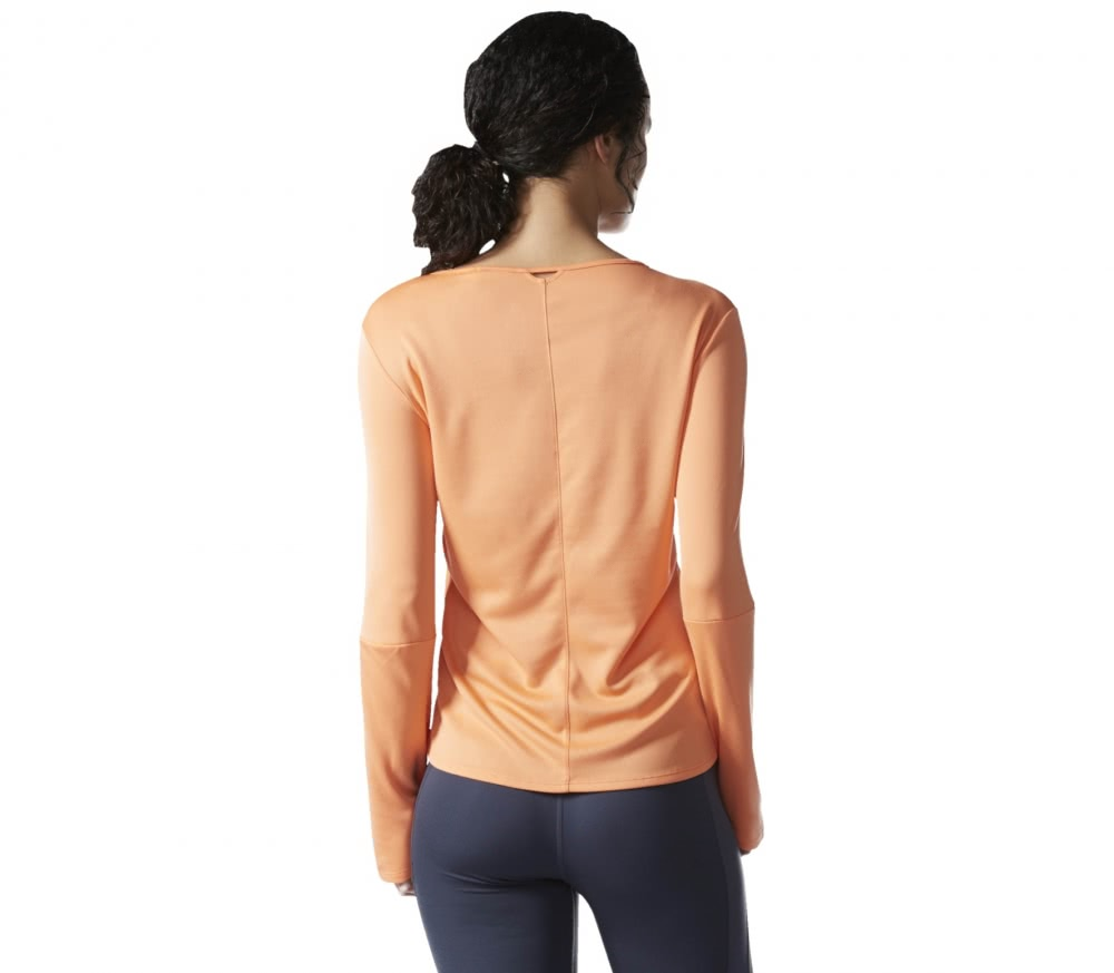 Adidas - Response Longsleeve women's running t-shirt (orange)