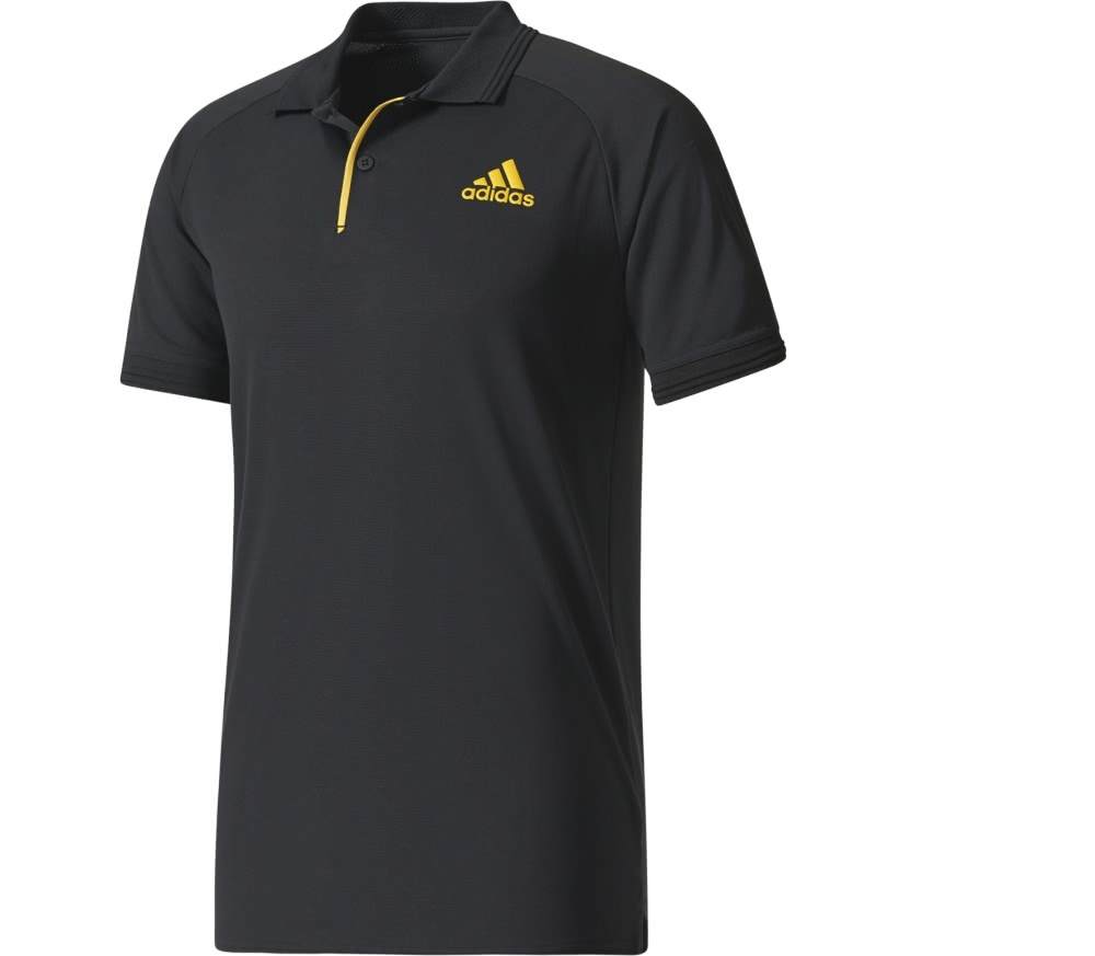 Adidas Barricade Men 39 S Tennis Polo Top Black Buy It