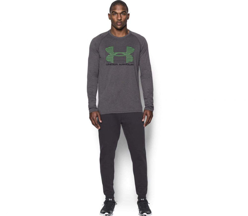 Under Armour - Tech Rise Up Sportstyle long-sleeved men's training top (grey/green)