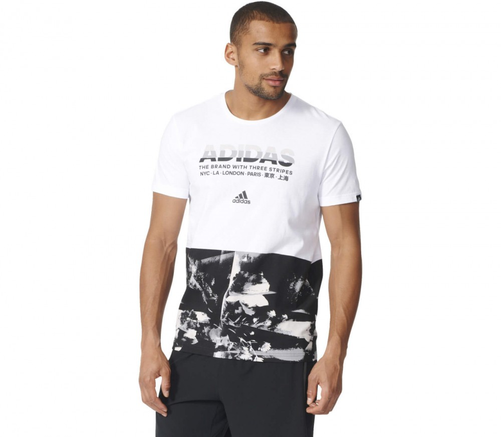 Adidas - Adi AOP men's training top (white/black)