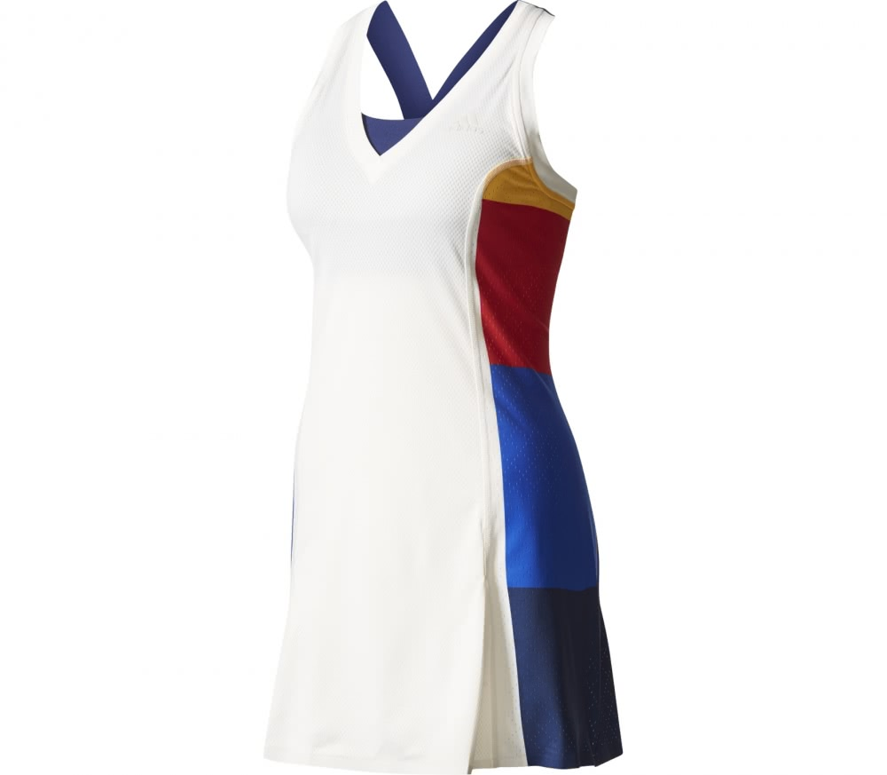 Adidas - New York Color Blocked women's tennis dress (white)