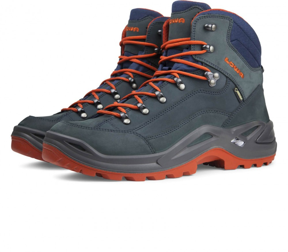 Lowa - Renegade GTX MID men's hiking shoes (dark grey/orange)