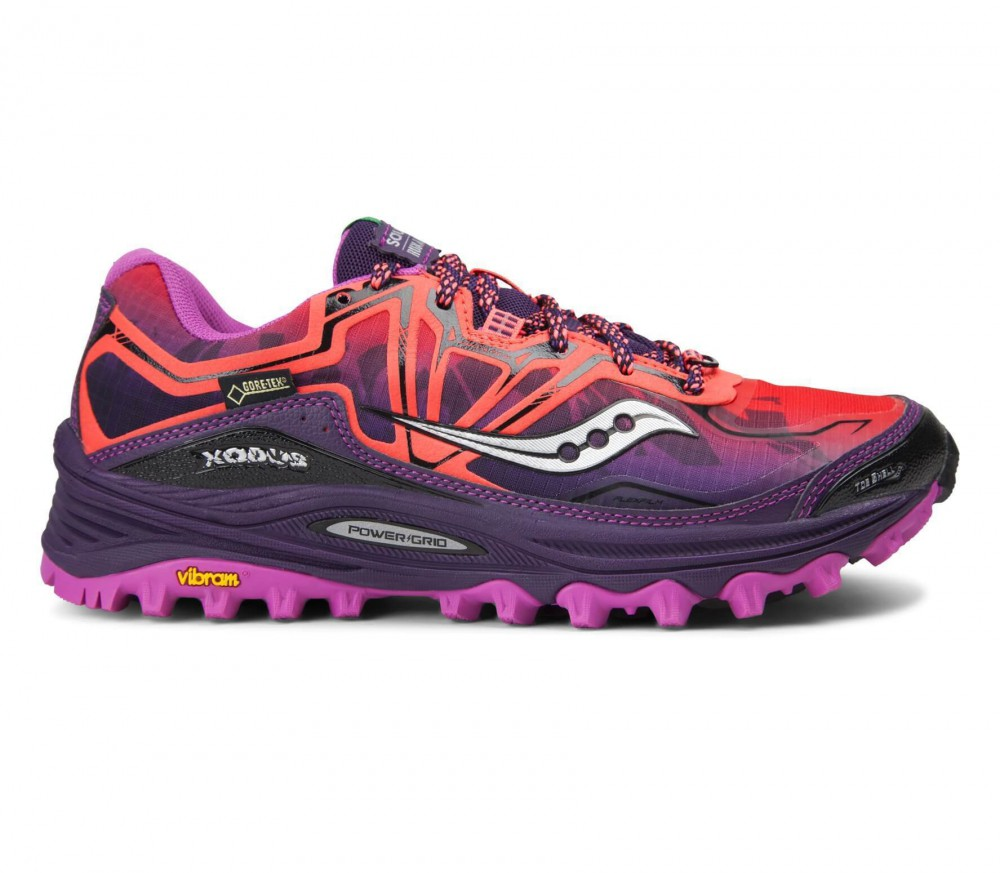saucony xodus 6 0 gtx women 39 s running shoes pink violet. Black Bedroom Furniture Sets. Home Design Ideas