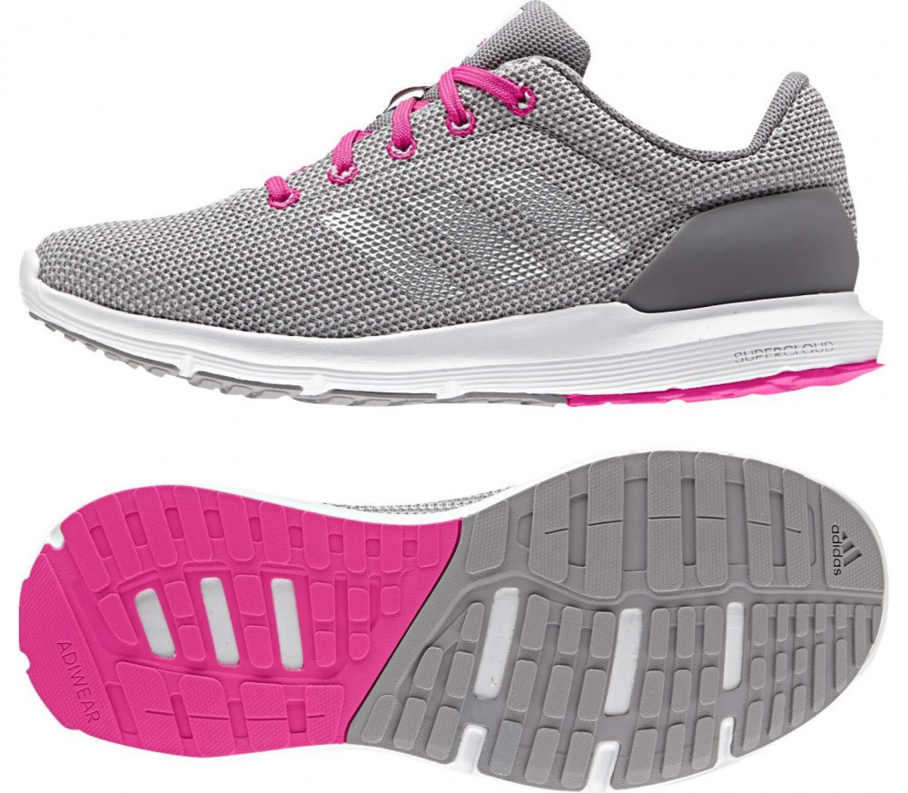 Adidas Shoes Grey And Pink