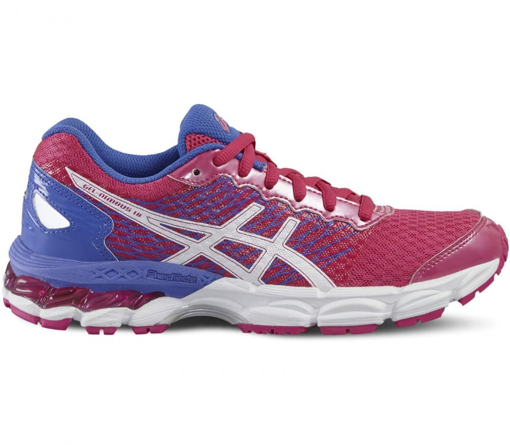 ASICS - Gel-Nimbus 18 GS junior running shoes (red/white)