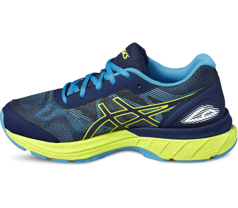asics gel nimbus 19 gs children 39 s running shoes blue yellow buy it at the keller sports. Black Bedroom Furniture Sets. Home Design Ideas