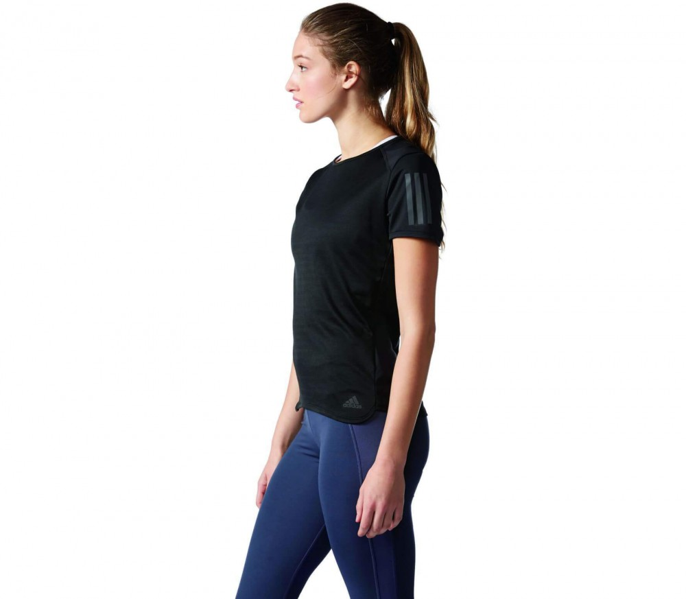 Adidas - Response Shortsleeve women's running top (black)