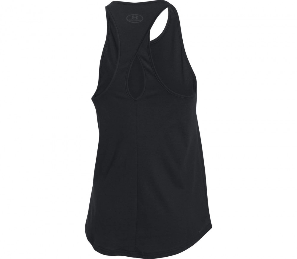 Under Armour - Charged Cotton Microthread Keyhole women's training top (black)