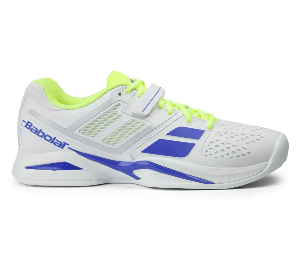 babolat propulse clay s tennis shoes white yellow