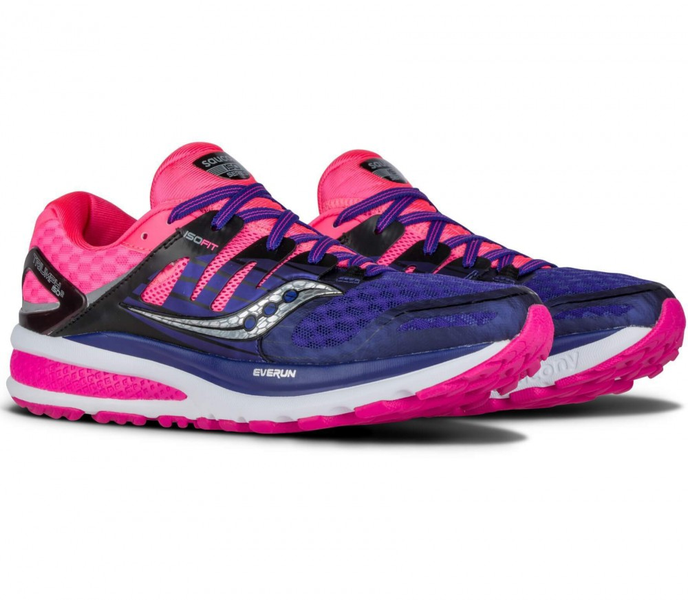 Saucony - Triumph ISO2 women's running shoes (pink/purple)