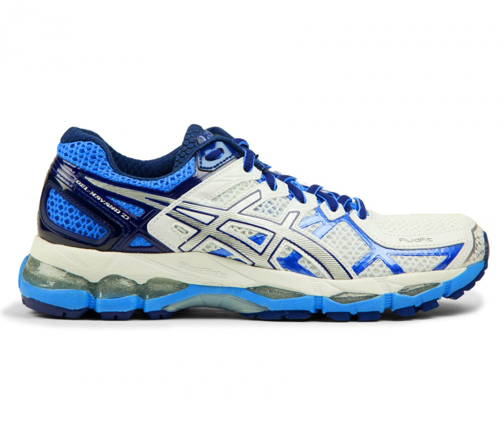 asics gel kayano 21 women 39 s running shoes white blue buy it at the keller sports online shop. Black Bedroom Furniture Sets. Home Design Ideas