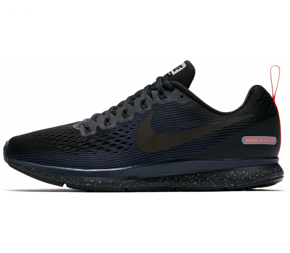 Nike - Air Zoom Pegasus 34 Shield men's running shoes (black/blue)